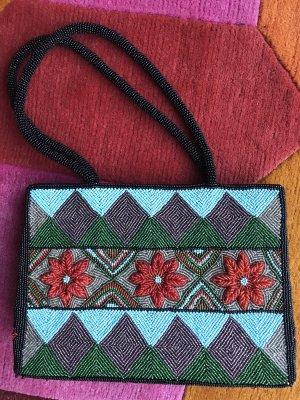Perlenbestickte Handtasche