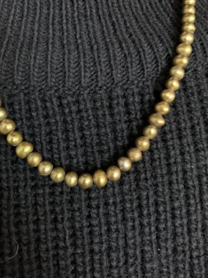 Pierre Lang Pearl Necklace gold-colored-ocher