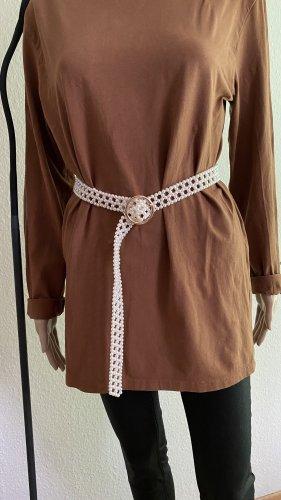 Zara Cinturón pélvico blanco-color oro