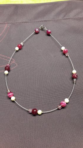 Handmade Collar de perlas violeta