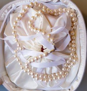 Pierre Lang Collier de perles argenté-crème