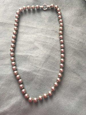 Pierre Lang Collar de perlas color plata-rosa empolvado