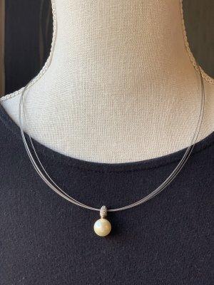 Perlenkette aus 925 Silber mit Strass