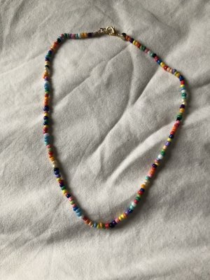 Perlenkette (bunt, boho, vintage look)