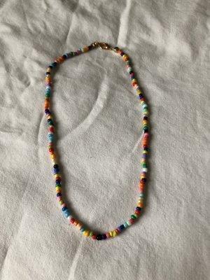 Perlenkette (bunt) trendy boho look