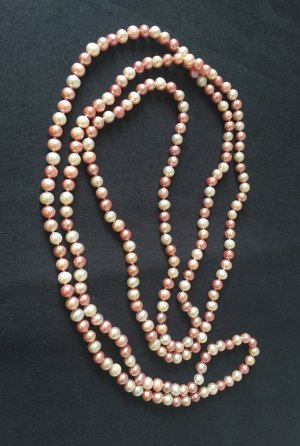 Perlenkette endlos rosa rose Qvc Hse 24 neuwertig