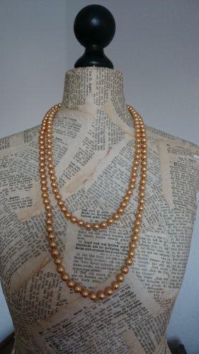 Perlenkette, goldfarben