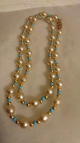 Perlenkette Halskette 50 cm Modeschmuck