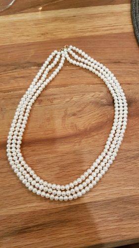 Perlenkette mit echtem Goldverschluss