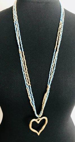Naszyjnik z perłami jasnoniebieski