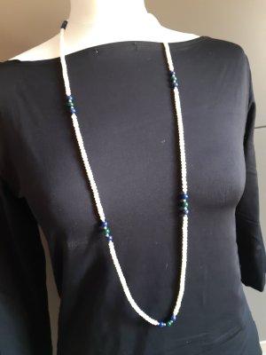 perlenkette mit lspislazuri und machit