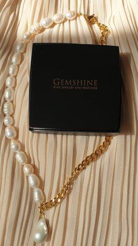 Naszyjnik z perłami złoto