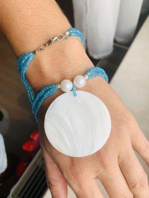 Perlenkette mit Perlmuttanhänger