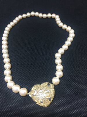 Necklace gold-colored-natural white