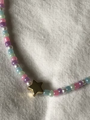 Perlenkette mit Sternanhänger cute trendy y2k style