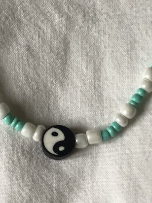 Perlenkette mit Ying Yang Anhänger trendy cute