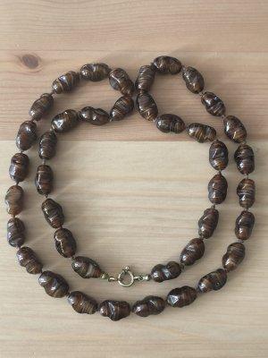 Perlenkette Schmuck Edelsteine vintage Halskette - Versandkostenfrei