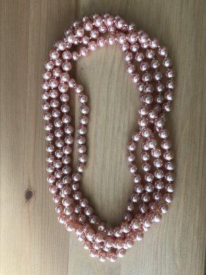 Perlenkette Schmuck rosé rosa vintage Halskette - Versandkostenfrei