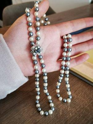Perlenkette Silberanhänger