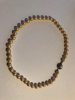 Perlenkette, Vintage, antik, sehr guter Zustand, creme-farben