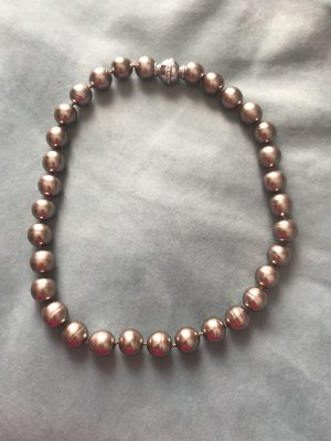 Pierre Lang Collar de perlas color plata-beige