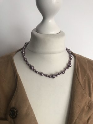 Pierre Lang Pearl Necklace silver-colored-purple