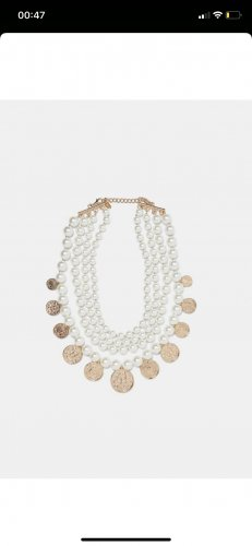 Zara Colliers ras du cou blanc-doré