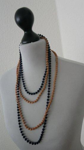 Perlenketten- braun- blau
