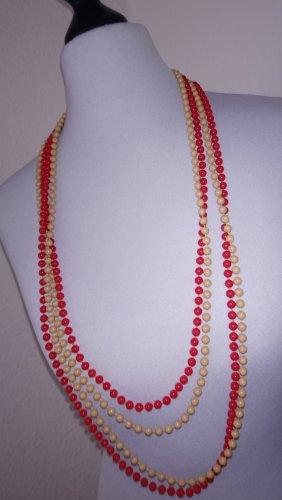 Perlenketten- braun- rot