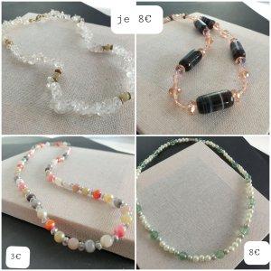 Retro Kette Collar de perlas multicolor