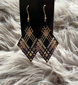 Perlenohringe - Diamond - Karo - Handmade