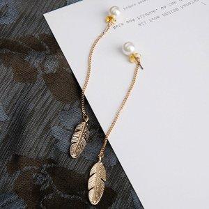 Orecchino di perle bianco sporco-oro