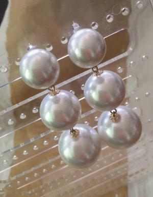 Accessorize Orecchino di perle bianco sporco