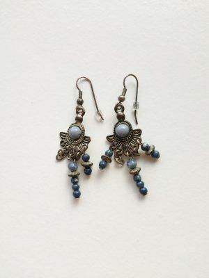 markenlos Bungeloorbellen zilver-blauw