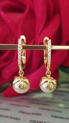 Perlenohrringe mit Swarovski Elementen