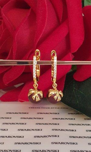 Swarovski Elements Pearl Earring gold-colored-purple