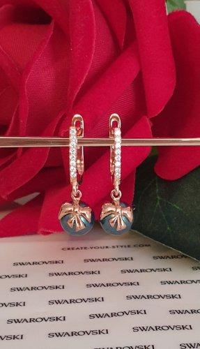 Swarovski Elements Pearl Earring rose-gold-coloured-petrol
