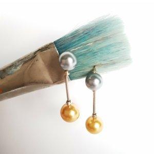 Agatha Orecchino di perle multicolore