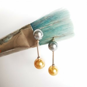 Agatha Pearl Earring multicolored