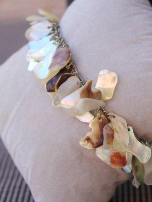 Pearl Bracelet gold-colored-light grey