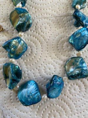 Parelketting korenblauw-blauw