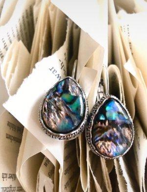Orecchino d'argento multicolore