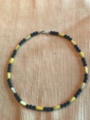Parelketting zwart-geel