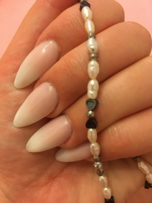Perlmuttkette Perlenkette Herzchen