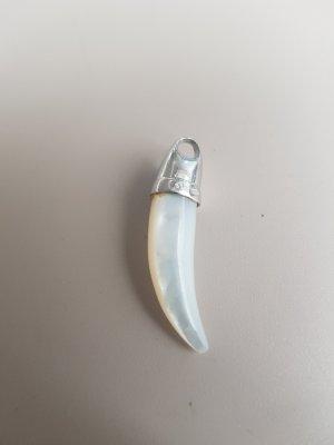 no name Breloczek biały-srebrny