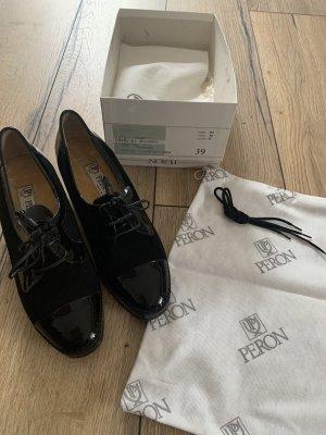 Peron Sznurowane buty czarny