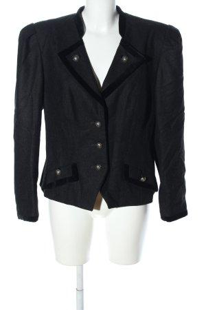 Perry Landhaus Chaqueta de lana negro-gris claro look casual