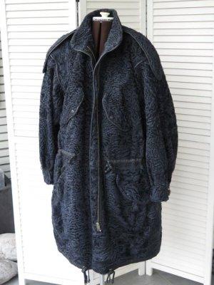 Manteau de fourrure gris anthracite