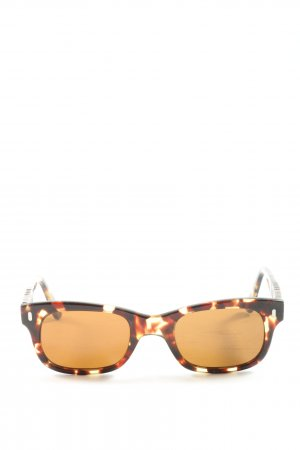 Persol Oval Sunglasses brown-light orange allover print casual look
