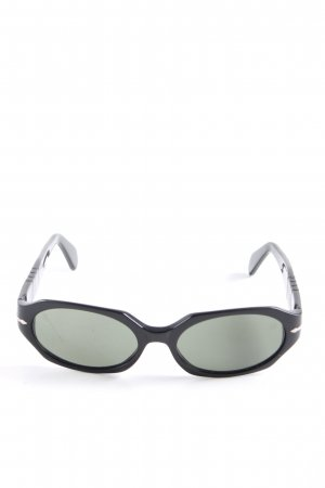 Persol ovale Sonnenbrille schwarz Casual-Look